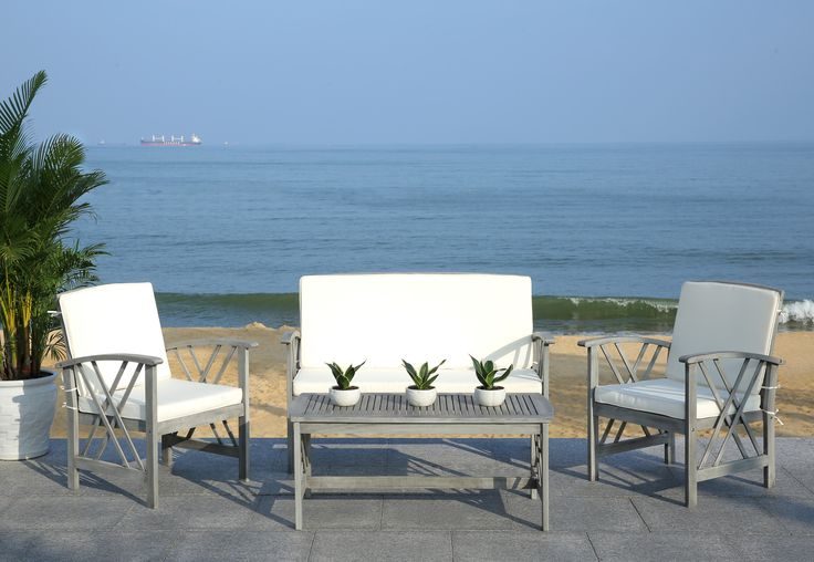 Melisse 4 Piece Outdoor Dining Set with Cushions