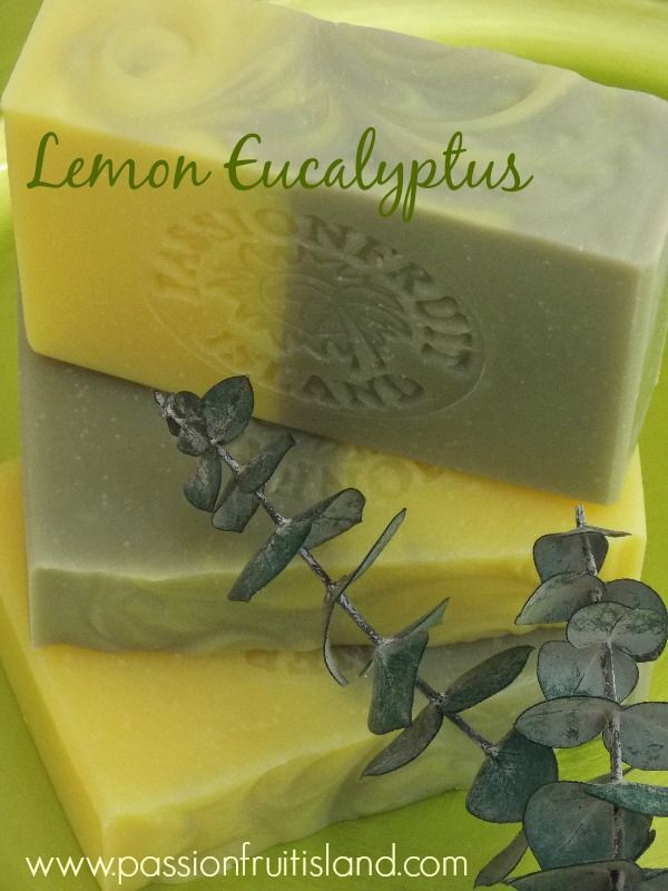Soaps scented with Lemon Eucalyptus essential oil