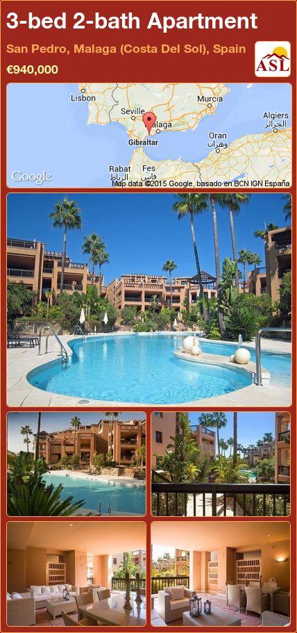 3-bed 2-bath Apartment in San Pedro, Malaga (Costa Del Sol), Spain ►€940,000 #PropertyForSaleInSpain