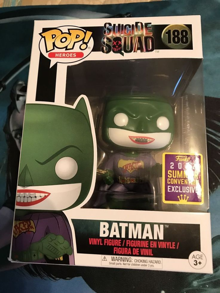 2017 Sdcc Funko Pop Batman Exclusive 188 Joker DC suicide Squad GameStop  | eBay