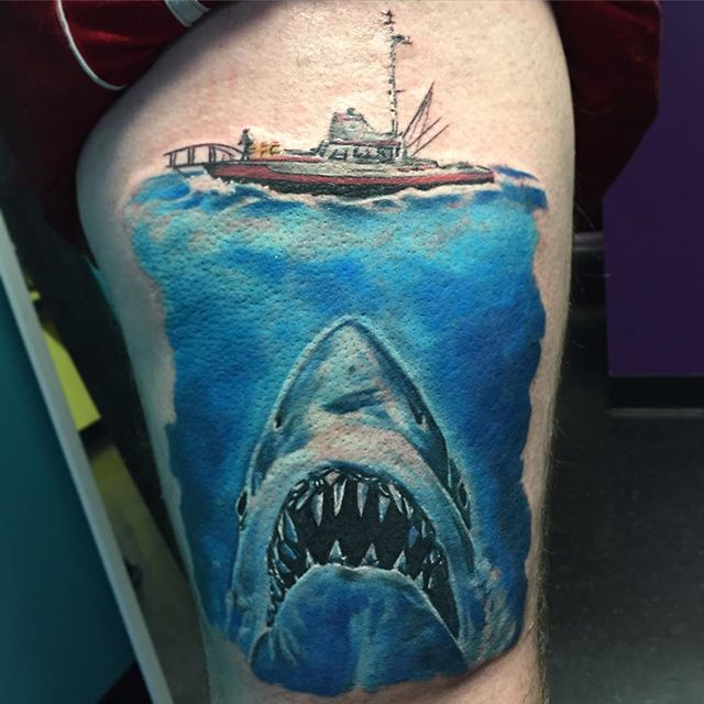 17 Best Images About Jaws Tattoos On Pinterest