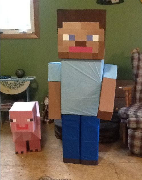 Life Size Steve And The Pig Minecraft Gifts Minecraft
