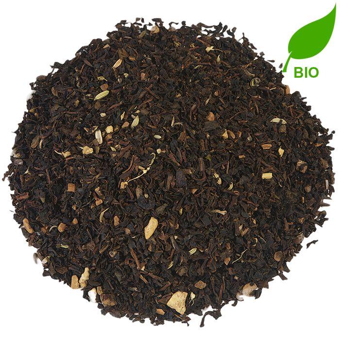 CHAI TEA BIO | Deze volledig biologische Chai Tea is vooral bedoeld voor theedrinkers die graag een scheutje melk bij de thee doen. De thee heeft een sterke zwarte theesmaak, aangevuld met verschillende kruiden. Voeg naar smaak wat hete melk toe en een lekkere dot opgeschuimde melk maakt het geheel af. Dat is pas genieten! |