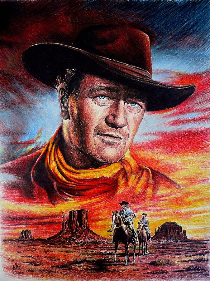 Searching By Andrew Read John Wayne Movies John Wayne Celebrity Drawings