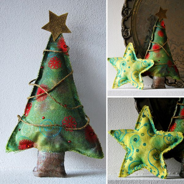 fabric stamping / holiday decoration — mystampbox.com