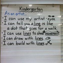 kindergarten I can statement