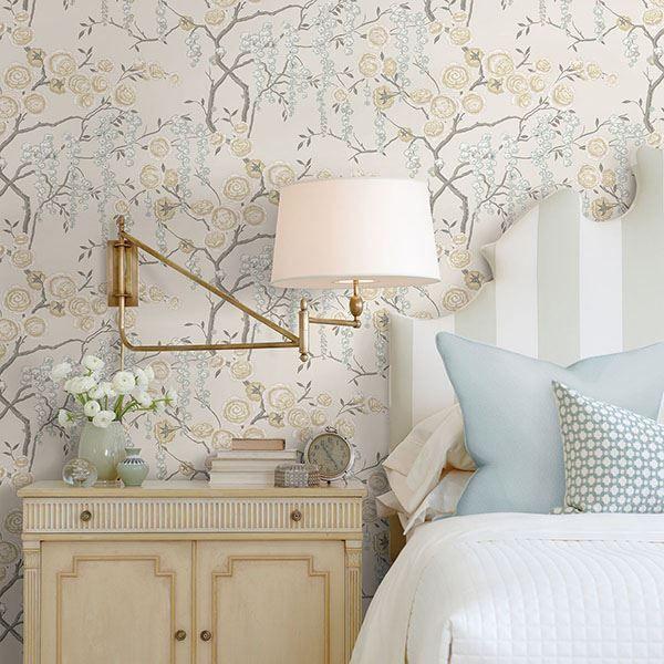 Peony Tree Citrine Wallpaper By Sarah Richardson Sarah Richardson Design Sarah Richardson Home Decor