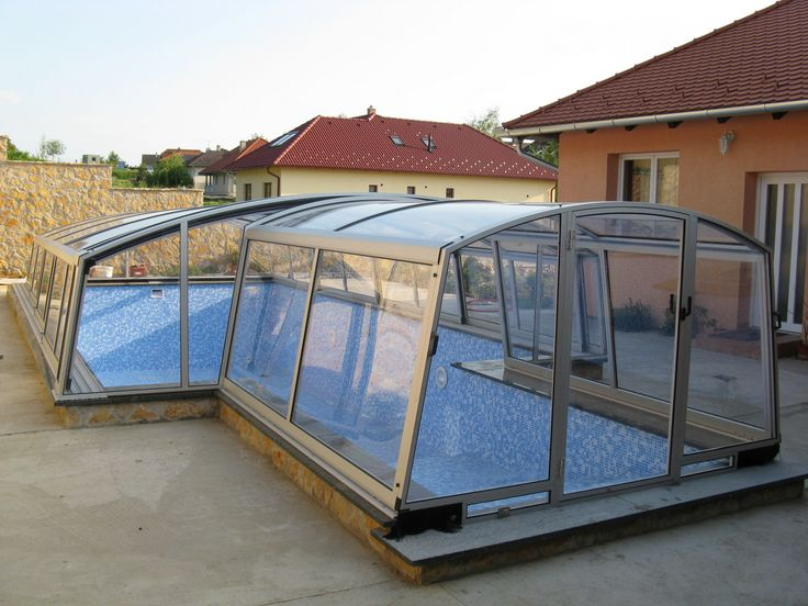 Ideal option for covering irregular pool is COMBI pool enclosure