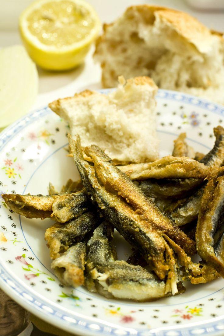Turkish Hamsi, fried crispy anchovies. #cooking