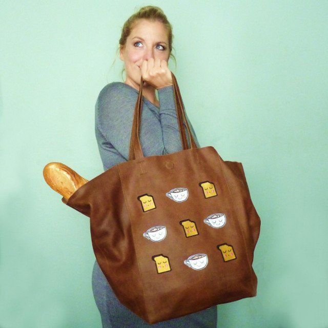 Tea & Toast Brown Large Leather Shopper *Limited edition* - Kate Garey https://www.kategarey.com/collections/handbags-accessories
