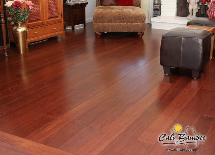 Gorgeous Cognac Fossilized® Bamboo Flooring