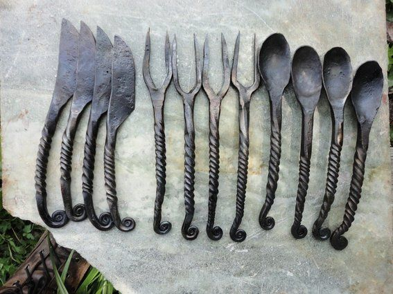 Custom made medieval cutlery cooking and eating utensils pinterest medieval cutlery and - Medieval silverware ...