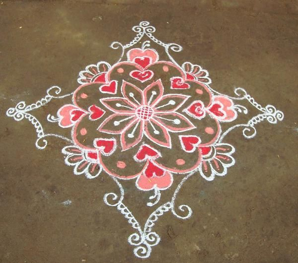 Lord Ganesha, the lord of prosperity and luck may bless you Kolam is the variation of Rangoli in south indian states Tamil Nadu, Karnataka and Andra Pradesh. Even though the meaning of Kolam in Tami is Rangoli itself, the kolam and Rangoli in north India is differs from the theme and design. Rangoli Designs in North India is colorful art for Diwali to make it more colorful where as Rangoli in Tamil Nadu is an every day religious affair. It is not colorful as Diwali Rangoli in North India…