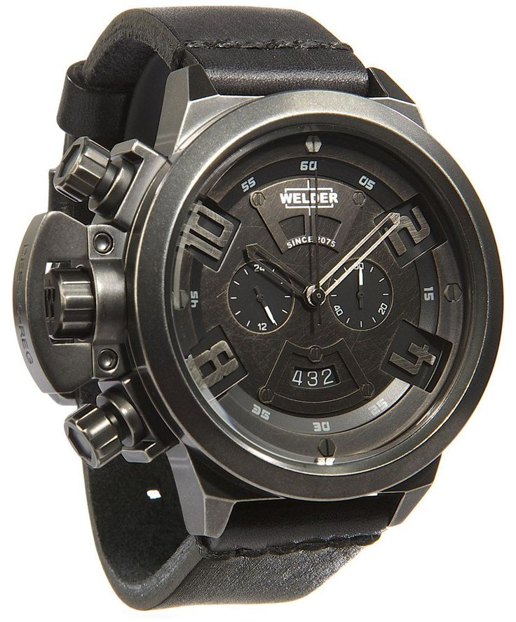 Welder Watch K24 3603 #bezel-fixed #bracelet-strap-leather #brand-welder #case-depth-14mm #case-material-steel #case-width-50mm #chronograph-yes #classic #date-yes #delivery-timescale-6-8-weeks #dial-colour-black #gender-mens #movement-quartz-battery #new-product-yes #official-stockist-for-welder-watches #packaging-welder-watch-packaging #style-dress #subcat-welder-k24-28 #supplier-model-no-k24-3603 #warranty-welder-official-2-year-guarantee #water-resistant-100m