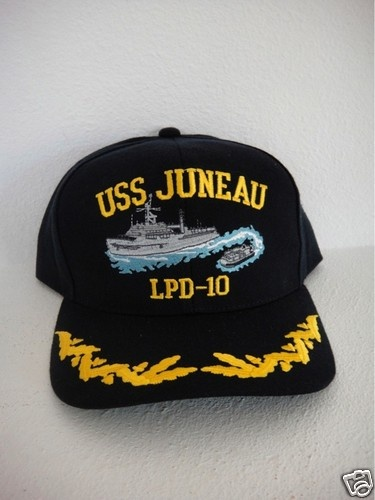 831062c0 captain navy ship command ball cap officer USS JUNEAU LPD-10 ball cap hat  USA | US Navy Command Ball Caps and Patches | Caps hats, Hats, Cap