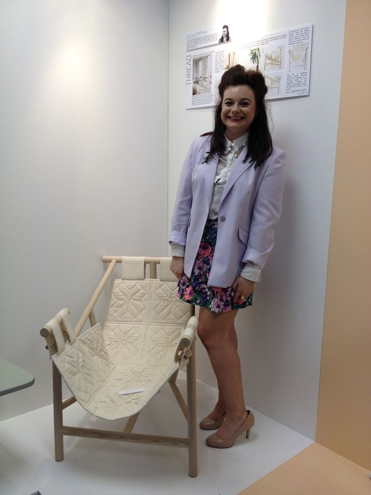 Chair designed and made by Sally-Ann Matthews in the White Gables Quilting Studio, Sheffield.  A very talented young lady.