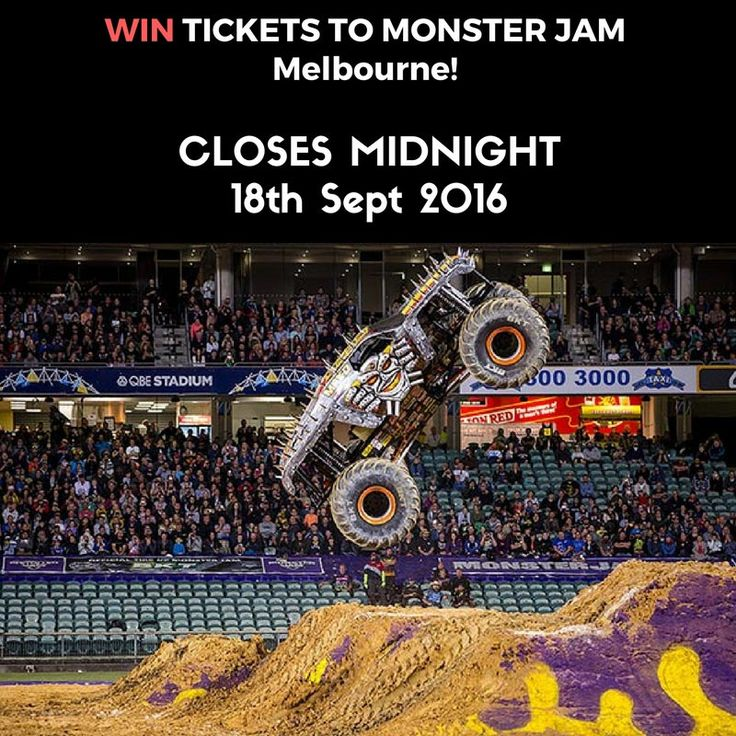 Monster Jam Melbourne Giveaway ends at midnight tonight. Enter now to be in the running for 4 tickets and 4 pit passes to this fab event!   http://mummytotwinsplusone.com/competitions/monster-jam-melbourne-giveaway    #win #giveaway #monstertrucks #monsterjam #melbourne #family #competition #trucks #cars #kids #dads #mums #familydayout #fun @monsterjamelive