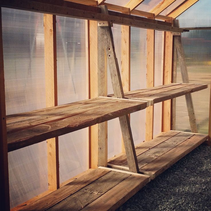 Best 25 greenhouse shelves ideas on pinterest for Inexpensive greenhouse shelving wood
