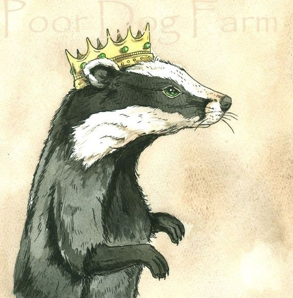 NEW!! A new king!!    Badgers are great creatures and make excellent kings... Male badgers are called boars.. and are described as heavy-set.  Poor dog farm etsy