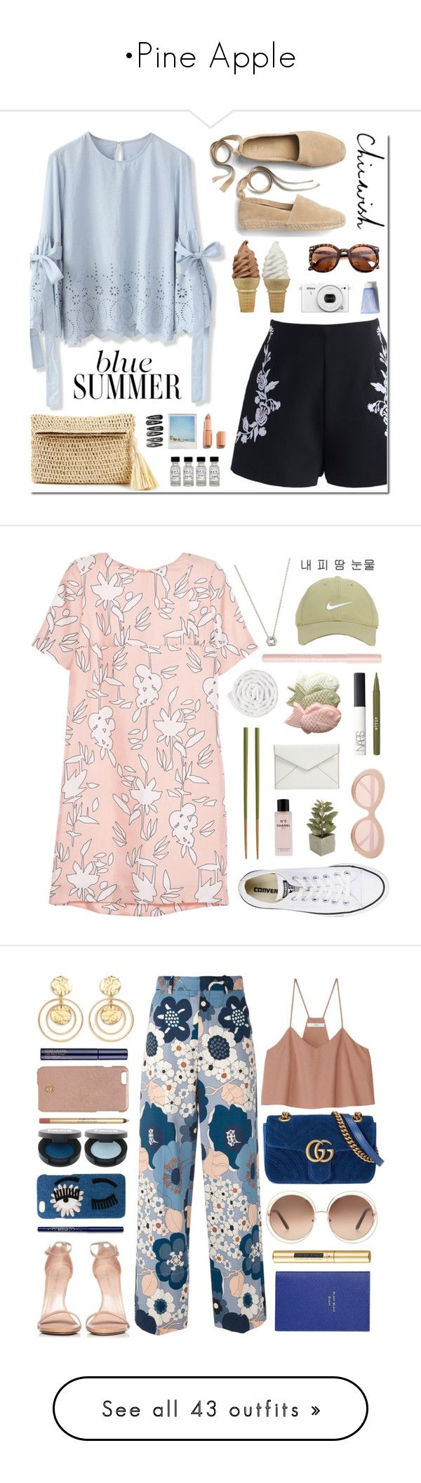 """•Pine Apple"" by makeshinethestars ❤ liked on Polyvore featuring Chicwish, Gap, Nikon, Ann Taylor, Charlotte Tilbury, Clips, MIANSAI, Marni, Nike Golf and Sunday Somewhere"