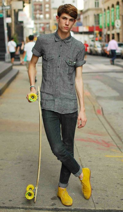 Street Chic Homme Roll Up Sleeves Boys And Color Pop
