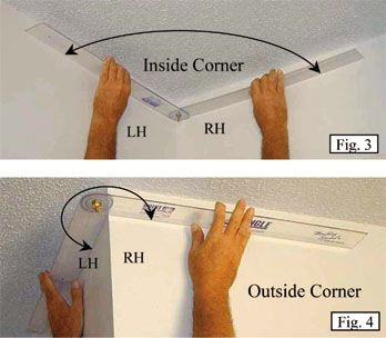 How To Cut And Install Crown Molding And Trim to fit outside and inside corners - detailed instructions, use a 360 degree adjustable protractor to get precise angle measurements