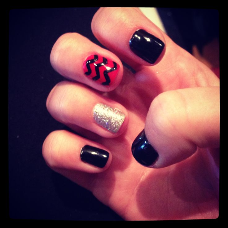Red and black nails for Texas Tech football!
