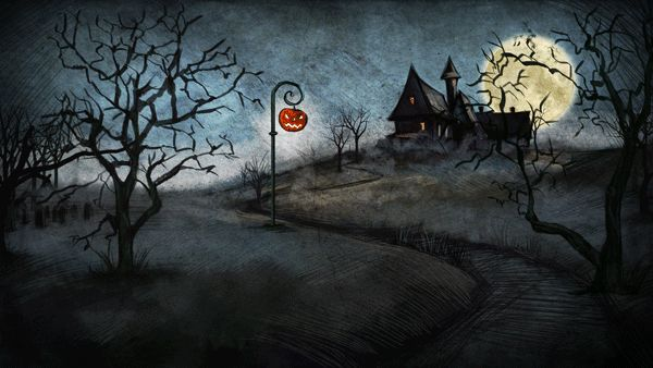 Halloween Landscape by Iva Ivanova, via Behance