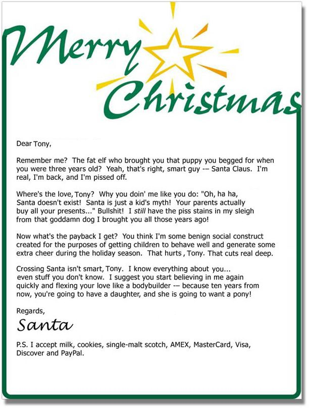 9 best xmas images on pinterest christmas ideas christmas time letters from bad santa 4 spiritdancerdesigns Gallery