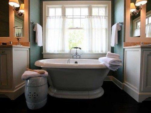 Best 25 Bathroom Window Curtains Ideas On Pinterest  Bathroom Amusing Small Bathroom Window Curtain Inspiration