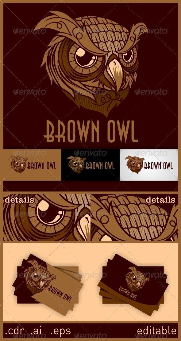Brown Owl  Logo Design Template Vector #logotype Download it here: http://graphicriver.net/item/brown-owl-logo/6246512?s_rank=756?ref=nexion