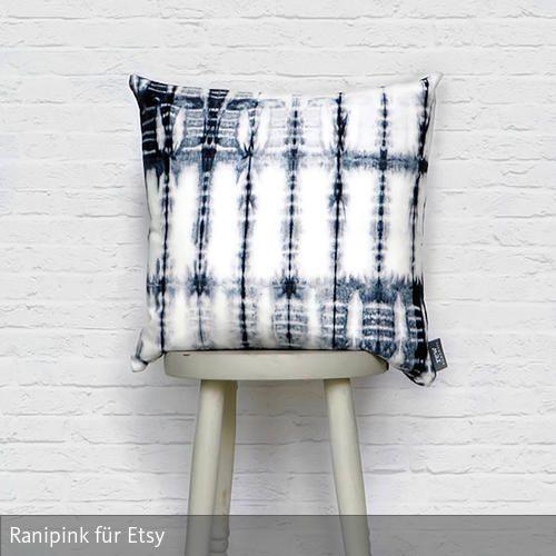 Shibori-Stil via Etsy – tolle DIY-Technik! Mehr auf roomido.com #roomido