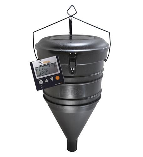Wildgame Innovations WGI-W50AUG Pile Driver Hanging Feeder, uses auger for powder and pellet
