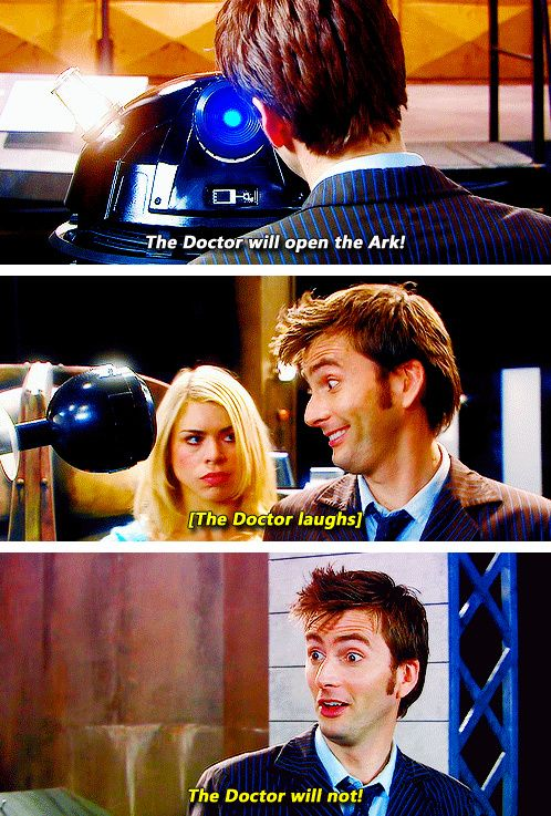 """The Doctor will not!"""