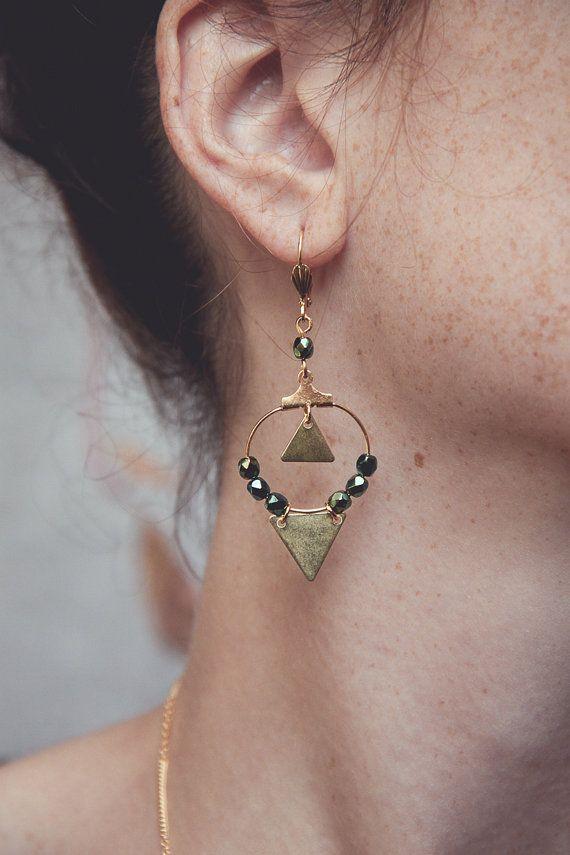 boucles d'oreilles créoles créoles dorées par Cestbonpourcquetas