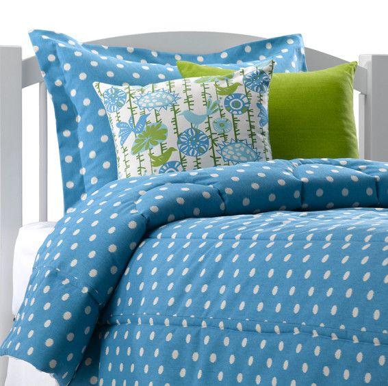 Ikat Dots In Caribbean Blue Dorm Bedding Sham