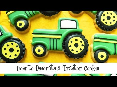 Flour Box Bakery — How to Decorate a Green Tractor Cookie