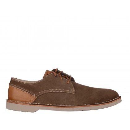 Pantofi CLARKS maro, din piele intoarsa