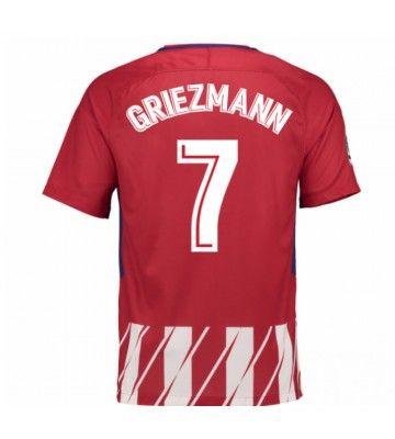 Billiga Fotbollströjor Atletico Madrid Antoine Griezmann 7 Hemmatröja 17-18