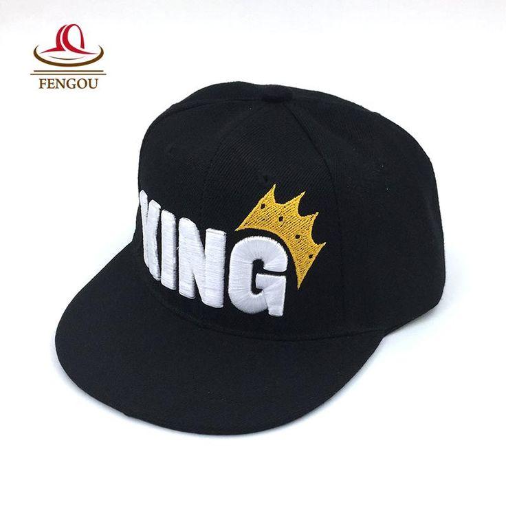 [Visit to Buy] Letter KING Kids Baseball Cap Child Flag Snapback Hats Baby Hat Fashion Hip Hop Adjustable Caps For Children Unisex hats #Advertisement