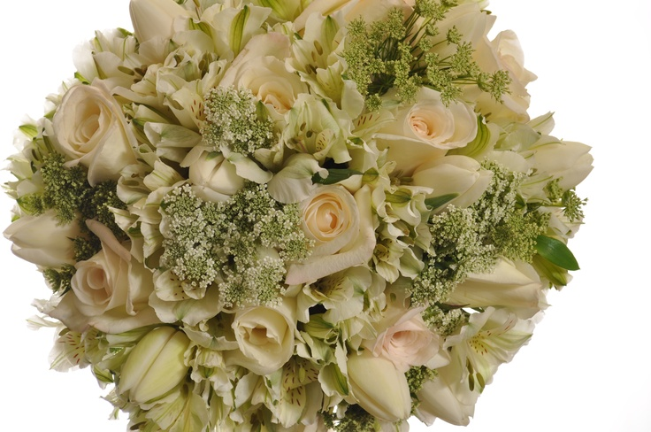 Bridal Bouqet - Queen Annes Lace with White & Cream