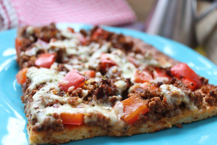 Low Carb Rezepte von Happy Carb: Pizza Bolognese - Pizza Bolognese! Wieder mal 2 meiner Lieblingsgerichte harmonisch miteinander verbandelt.