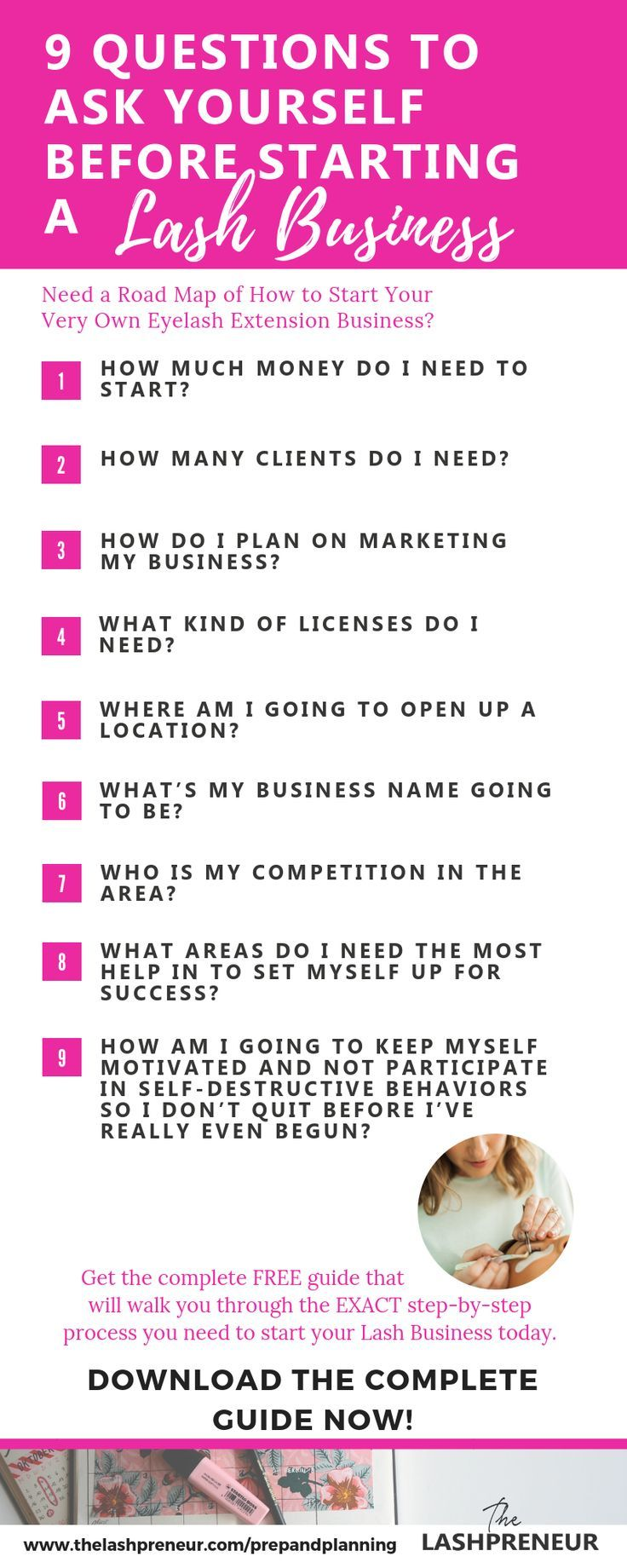 Need A Road Map Of How To Start Your Very Own Eyelash Extension Business Download Thelashpreneur Free Prep Eyelash Extensions Eyelash Extentions Eyelash Salon