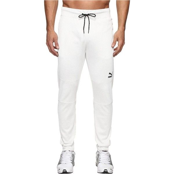 PUMA Commander Sweat (Puma White Heather) Men's Workout ($40) ❤ liked on Polyvore featuring men's fashion, men's clothing, men's activewear, men's activewear pants, white, mens drawstring sweatpants, mens activewear pants, mens jogger sweatpants, mens sweat pants and mens activewear