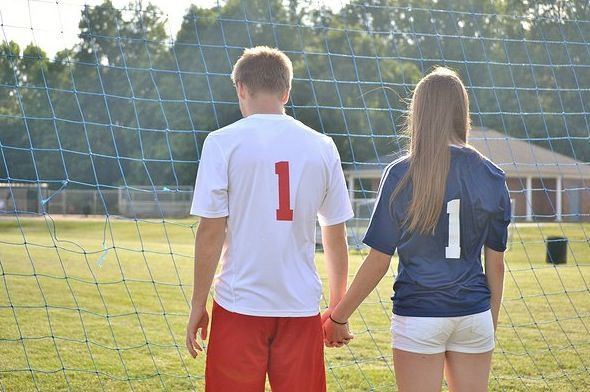Soccer couple picture