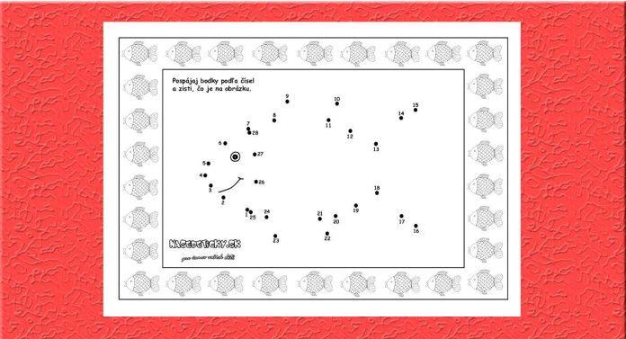 Spájame bodky. Kapor. - Aktivity pre deti, pracovné listy, online testy a iné