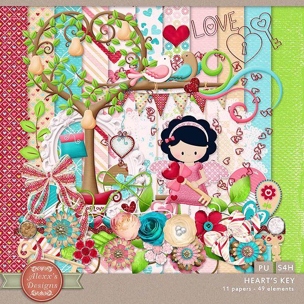 Heart's Key Kit by Alexx's Designs