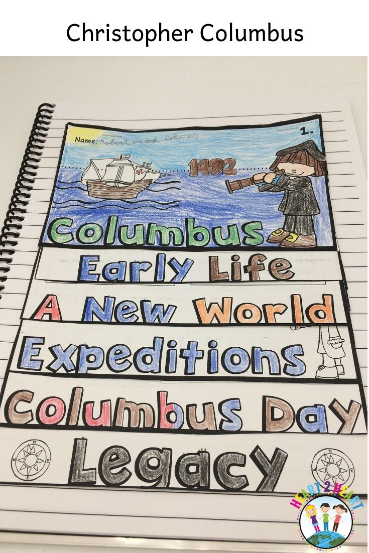 Columbus Day Is Almost Here Students Will Love Learning All About This Famous Explorer Celebrate Columbus Day Flip Book Autumn Activities For Kids Activities