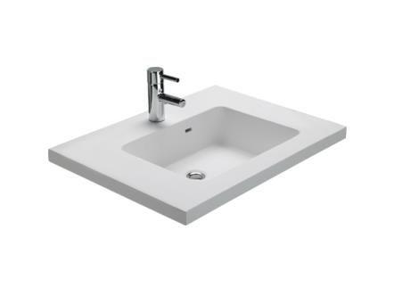 Højskab Til Badeværelse : Kunstmarmorvask firkantet hndvask i hvid ...