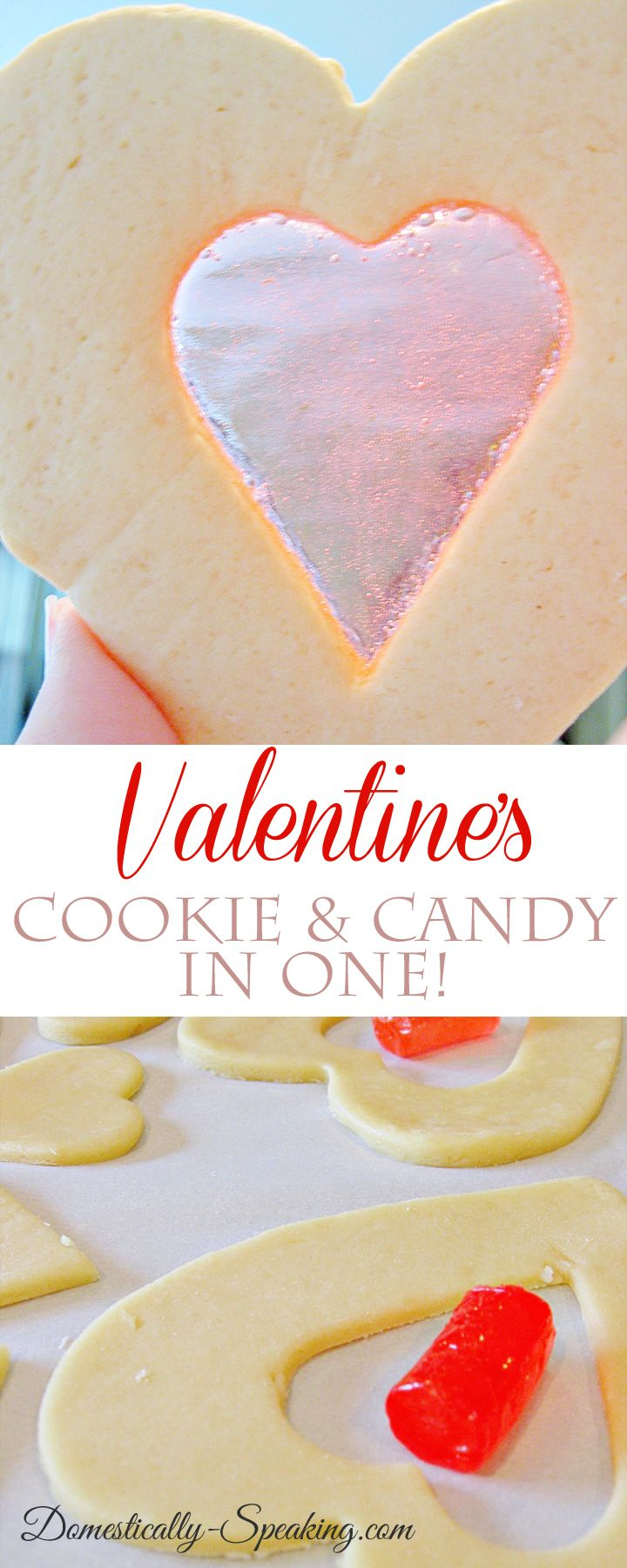 Valentine's Cookie - it's a cookie and candy in one! So simple and super cute…